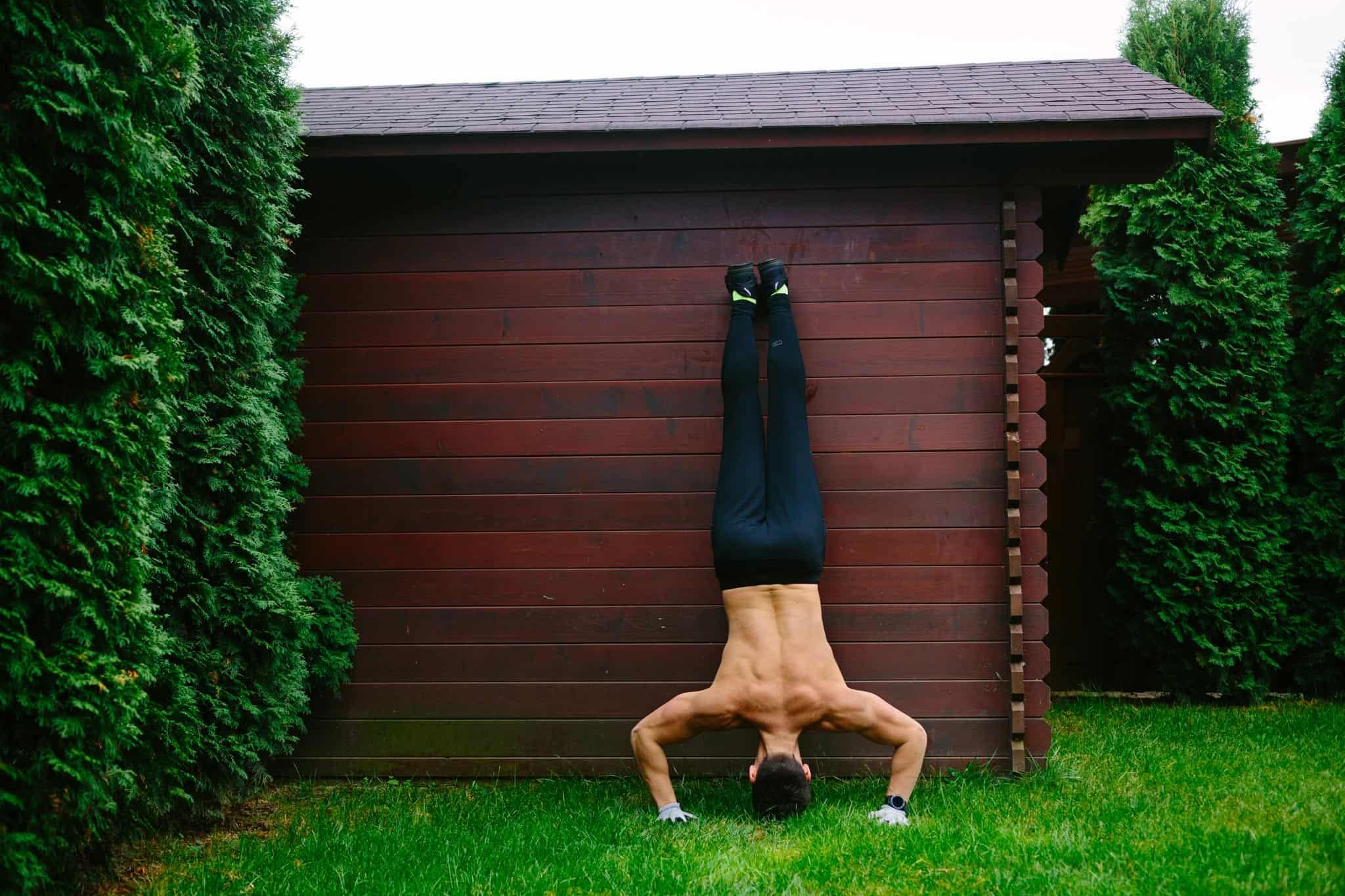 Grow Shoulders with Handstand Pushups