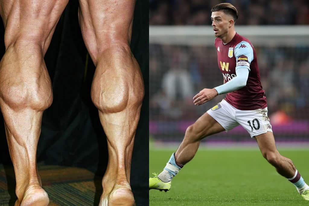 Bodybuilder Calves versus Football Player Calves